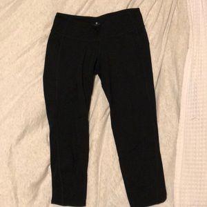 Black Cropped Cut Out Back Leggings